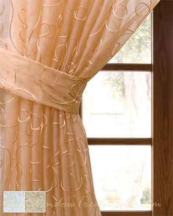 Lasandra Sheer Curtain Panel available in 2 color choices