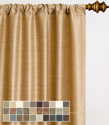 Malabar 100% Silk Cobalt Blue & Sienna Yellow Curtain Fabric