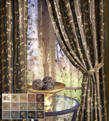 Belvedere Curtain Panel available in 15 colors
