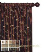 Belvedere Curtain Panel available in 15 color choices
