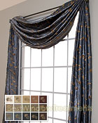 Belvedere Scarf Swag Window Topper in 15 colors