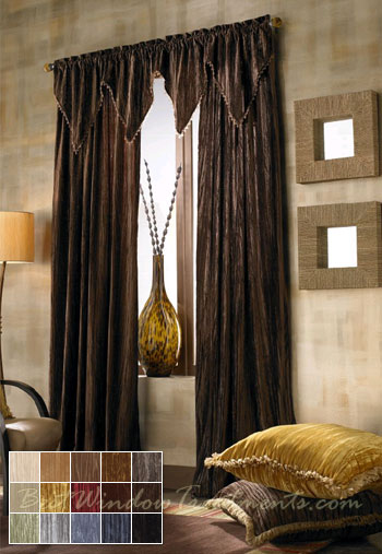 Diva Crush Curtain Panel available in 15 colors