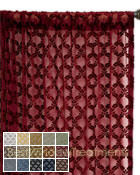 Diva Diamond Semi Sheer Curtain Panel available in 15 colors