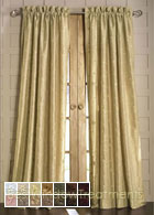 Empress Curtain Panel available in 14 colors