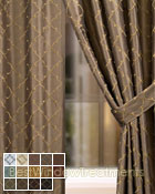 Ferretti Curtain Panel available in 13 colors