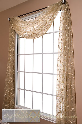 grand luxe sheer scarf swag window topper available in 2