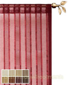 Leno Stripe Sheer Curtain Panel available in 8 colors