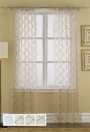 sheer curtain panels - Walmart.com
