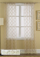 Liona Sheer Curtain Panel available in 4 colors