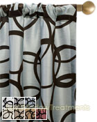 Metropolitan Flocked Curtain Panel available in 7 color choices