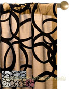 Metropolitan Flocked Curtain Panel available in 7 colors