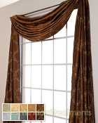 Novara Scarf Swag Window Topper available in 10 colors