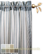 Palazzo Stripe Semi-Sheer Curtain Panel available in 7 color choices