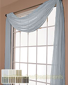 Palazzo Stripe Semi-Sheer Scarf Swag Window Topper available in 7 color choices