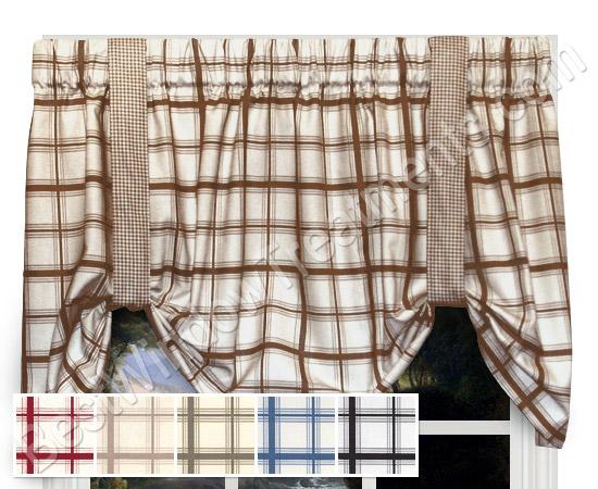 Logan Large Plaid Tie Up Valance Window Treatments