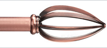 Annconie Custom Metal Curtain Rod In Copper Extra Long Available