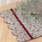 Cottage Vine Scalloped Table Runner