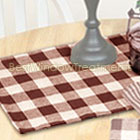 Cranston Check Table Runner in Sage, Barn Red and Black