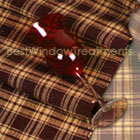 Burgundy Picnic Plaid Table Runner