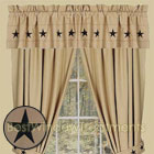 Embroidered Stars Curtain Panels in Nutmeg