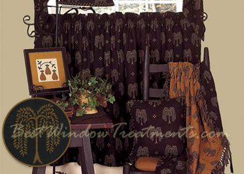 Lovely Willow Tree Tier Curtains