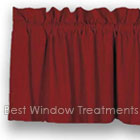 Farm House Solid Valance in Barn Red