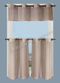 Bal Harbour Semi-Sheer Tier Curtains & Valance