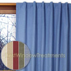 Homespun Double Lined Window Warmth Curtain Panels available in Cornflower Blue, Harvest, Linen, Spanish Moss and Sienna