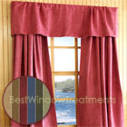 Saddle-up Microsuede Curtain Panel available in Saddle, Loden,  Blue, Scarlet,  Wheat, Celery