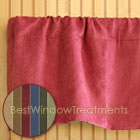 Saddle-up Microsuede Split Tailored Valance available in 6 color choices