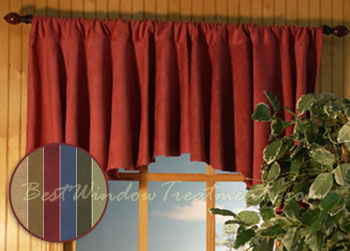 Saddle Up Microsuede Flounce Valance In 3 Color Choices