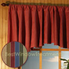 Saddle-up Microsuede Flounce Valance in 3 color choices