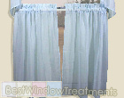 Sea Glass Tier Curtains in Natural,  White, Blue and Pink
