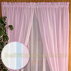 Sea Glass Curtain Panel in Natural,  White, Blue and Pink