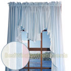 Sea Glass Full Bodied Swag Curtains in Natural,  White, Blue and Pink
