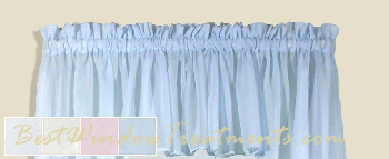 Sea Glass Full Bodied Valance in Natural,  White, Blue and Pink