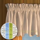 Savannah Seersucker Valance available in 4 colors