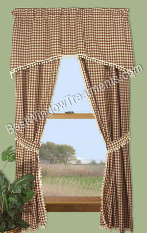 BJ'S Country Charm, Curtains,Ruffled Curtains,Country ,Country