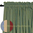 Ultra Fullness Glasgow Tier Curtains in Blue, Harvest, Moss and Pomegranate