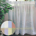 Turtle Bay Voile Tier Curtains available in White, Ivory, Sky Blue, and Moss