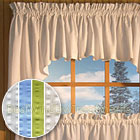 Savannah Seersucker Swag Curtains available in 4 colors
