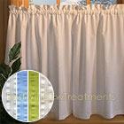 Savannah Seersucker Tier Curtains available in 4 colors