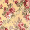 Roses and Bows Valance Yellow Floral Swatch