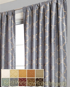 Abruzzo Curtain Panel available in 10 colors