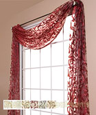 Amalfi Sheer Scarf Swag Window Topper available in 6 colors