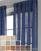 Belgique Curtain Panel available in 13 colors