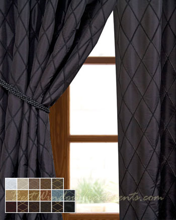 Captivating Casa Del Mar Curtain Panel Available In 17 Color Choices