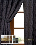 Casa Del Mar Curtain Panel available in 17 color choices