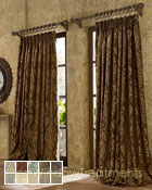 Castella Curtain Panel available in 10 colors