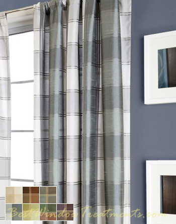 Envoy Plaid Curtain Drapery Panels